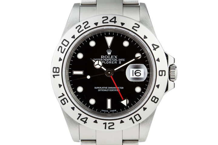 2000 Rolex Explorer II 16570 Black Dial photo