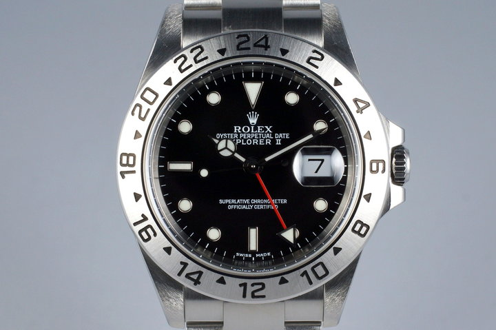 2000 Rolex Explorer II 16570 Black Dial UNPOLISHED photo