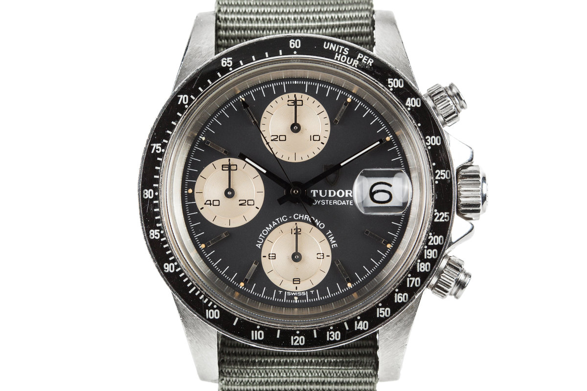 1980 Tudor Chronograph Big Block 94200 Black Dial photo, #0