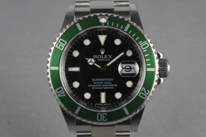 2007 Rolex Green Submariner 16610 LV photo