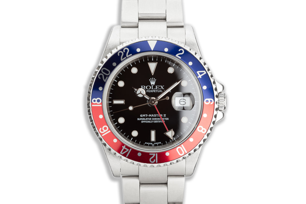 """2003 Rolex GMT-Master II 16710 """"Pepsi"""" with Box & Papers photo, #0"""