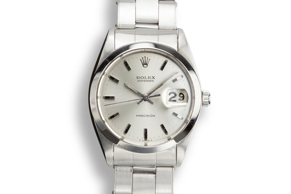 1968 Rolex OysterDate 6694 Silver Dial photo, #0