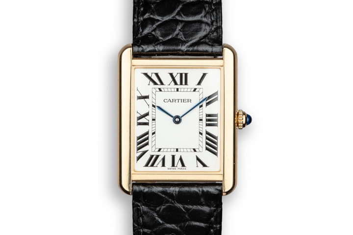 2018 Cartier 18K YG Tank Solo CRW5200004 with Box and Papers photo