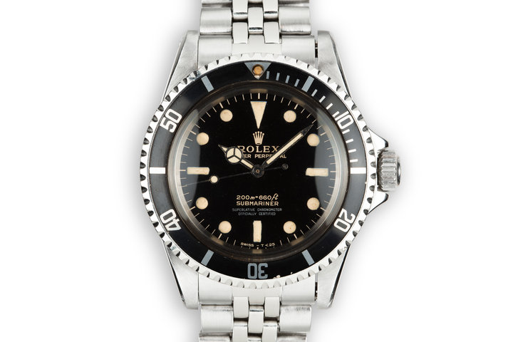 1966 Rolex Submariner 5512 4 Line Gilt Dial photo