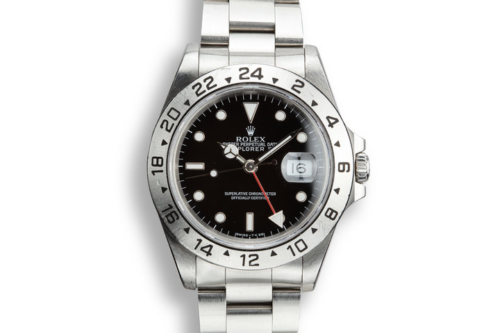 1990 Rolex Explorer II 16570 Black Dial with Box and Papers photo