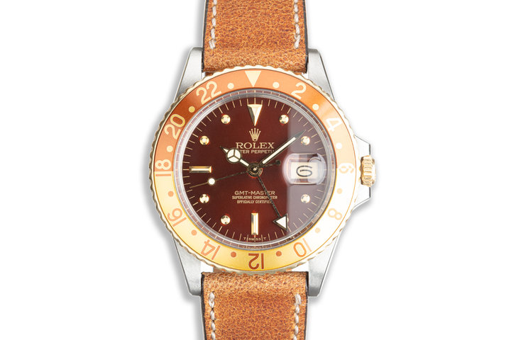 1979 Vintage Rolex GMT-Master 16753 Nipple Dial with Box and Papers photo