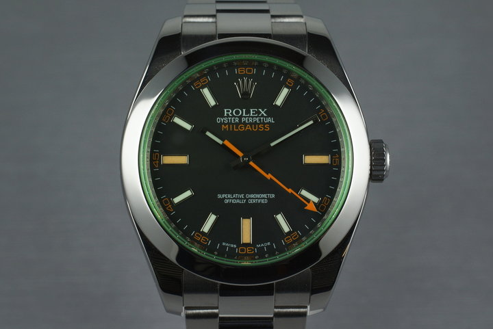 2009 Rolex Milgauss 116400GV with Box and Papers photo