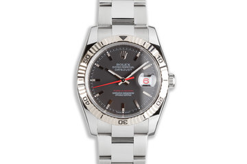 2007 Rolex DateJust Turn-O-Graph 116264 Black Dial & Red Date Wheel photo