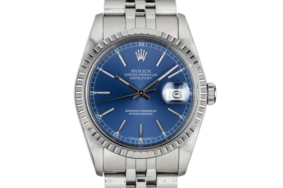 1990 Rolex DateJust 16220 Blue Dial photo, #0