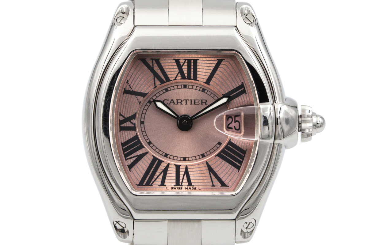 Cartier Ladies Quartz Roadster 2675 Pink Roman Dial photo, #0