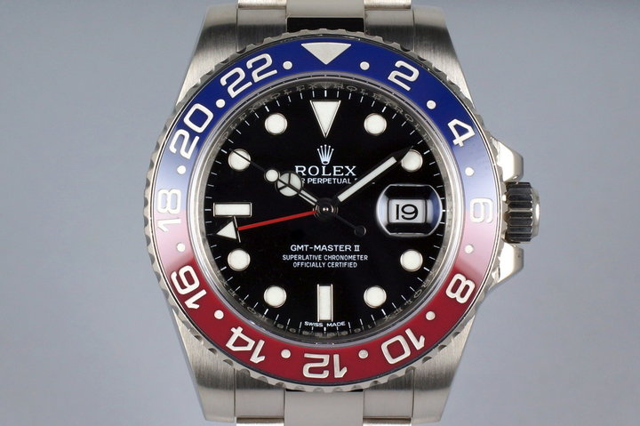 2014 Rolex WG GMT II 116710BLRO with Box and Papers photo