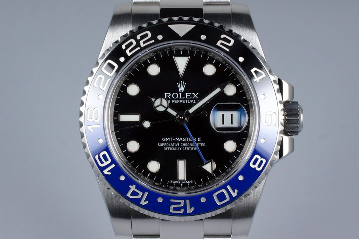 2014 Rolex GMT II 116710BLNR with Box and Papers photo