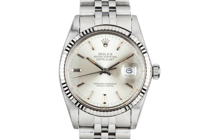 1980 Rolex DateJust 16014 Silver Dial photo