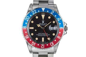 "1982 Rolex GMT-Master 16750 Matte Dial ""Pepsi"" with Box and Papers photo"
