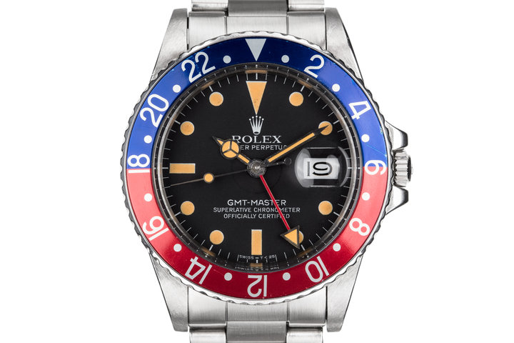 """1984 Rolex GMT-Master 16750 Matte Dial with """"Pepsi"""" Insert and Box and Papers photo"""