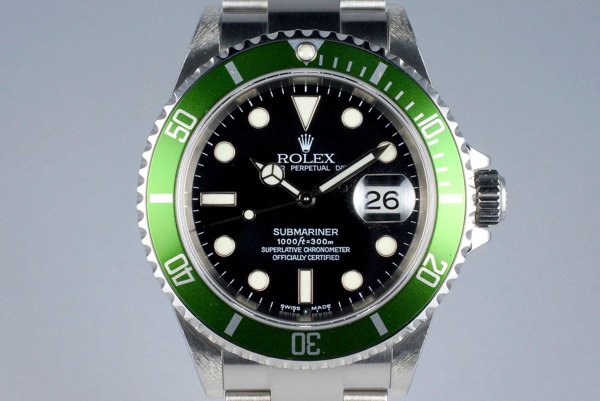 2004 Rolex Green Submariner 16610V Mark I Dial photo, #0