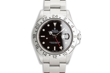 2000 Rolex Explorer II 16570 T Black Dial photo