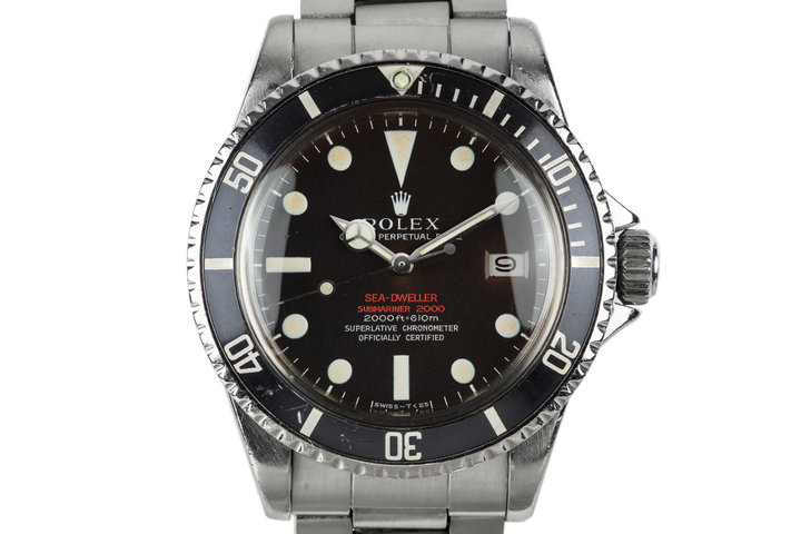 1967 Rolex Double Red Sea-Dweller 1665 with Mark 2 Tropical Dial photo