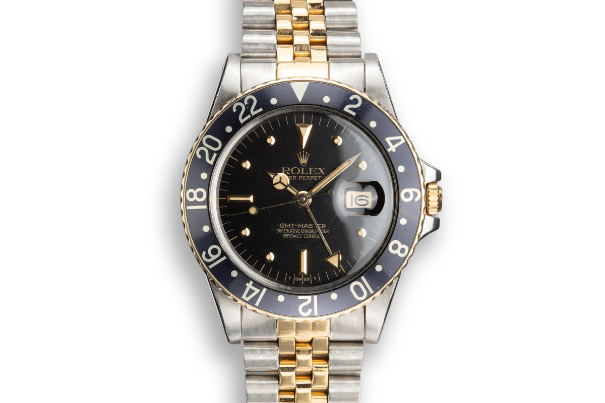 1981 Rolex Two Tone GMT-Master 16753 with Black Nipple Dial photo, #0