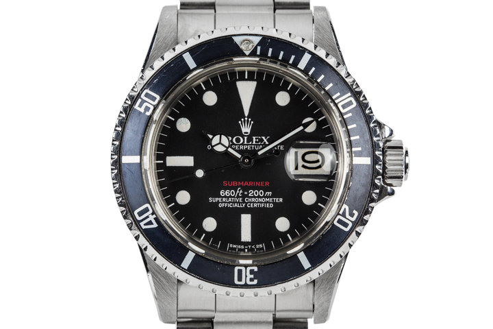 1972 Rolex Submariner 1680 with Red MK VI Dial photo