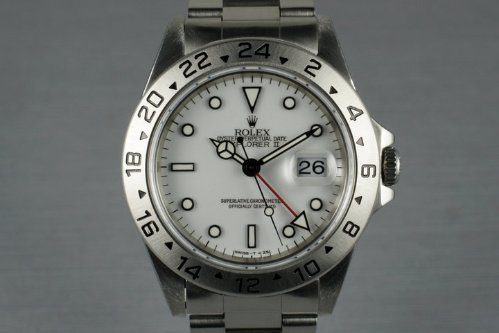 1995 Rolex Explorer II 16570 with Papers photo