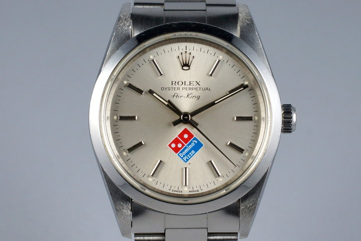 1996 Rolex Air-King 14000 Domino's Pizza Logo Dial with Box and Papers photo