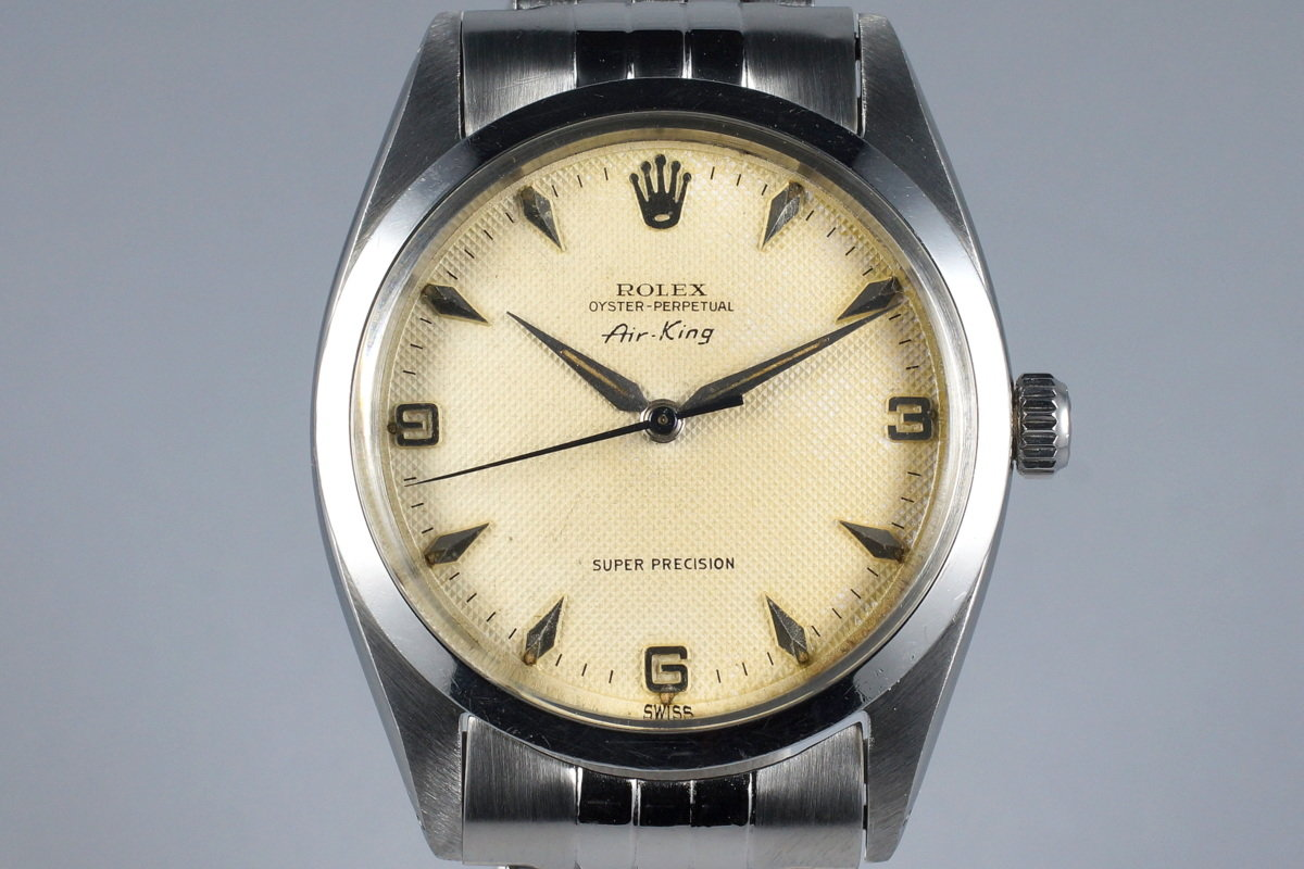 1958 Rolex Air-King 5504 Cream Waffle Dial with RSC Papers from England  photo,
