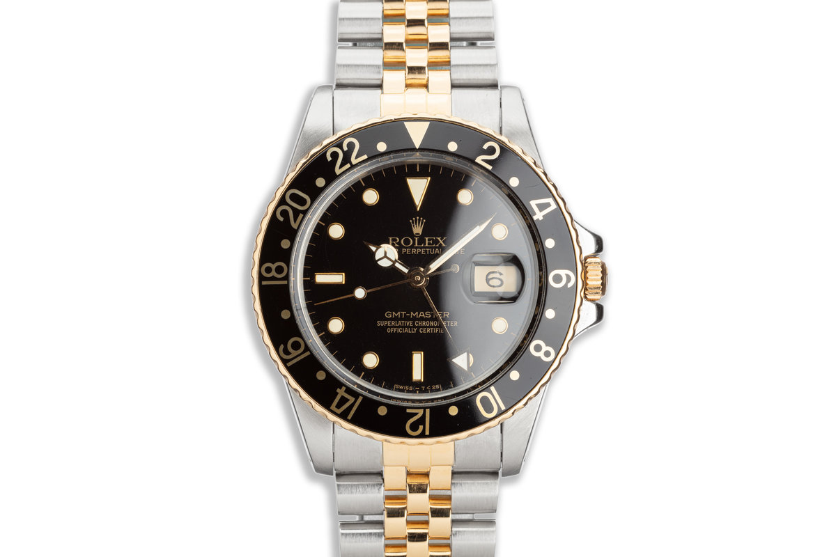 1987 Vintage Rolex Two-Tone GMT-Master 16753 Box and Papers photo, #0