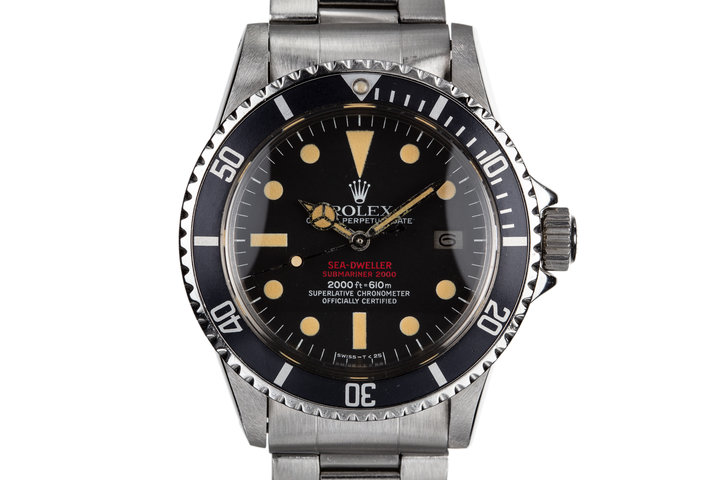 1977 Rolex Double Red Sea-Dweller 1665 With Complete Service Paper History photo