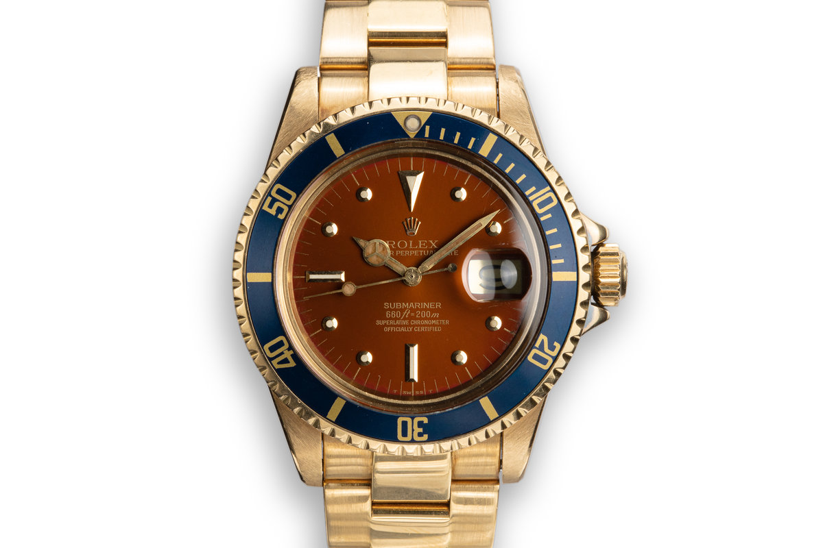 1970 Rolex 18K YG Submariner 1680 with Tropical Nipple Dial photo, #0