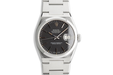 1981 Vintage Rolex OysterQuartz DateJust 17000 Black Dial photo