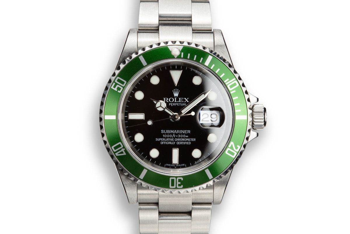 2006 Rolex Green Submariner 16610V with Box and Papers photo, #0