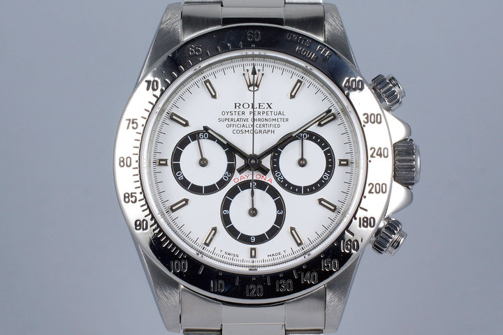 1995 Rolex Zenith Daytona 16520 White 'Inverted 6' Dial photo