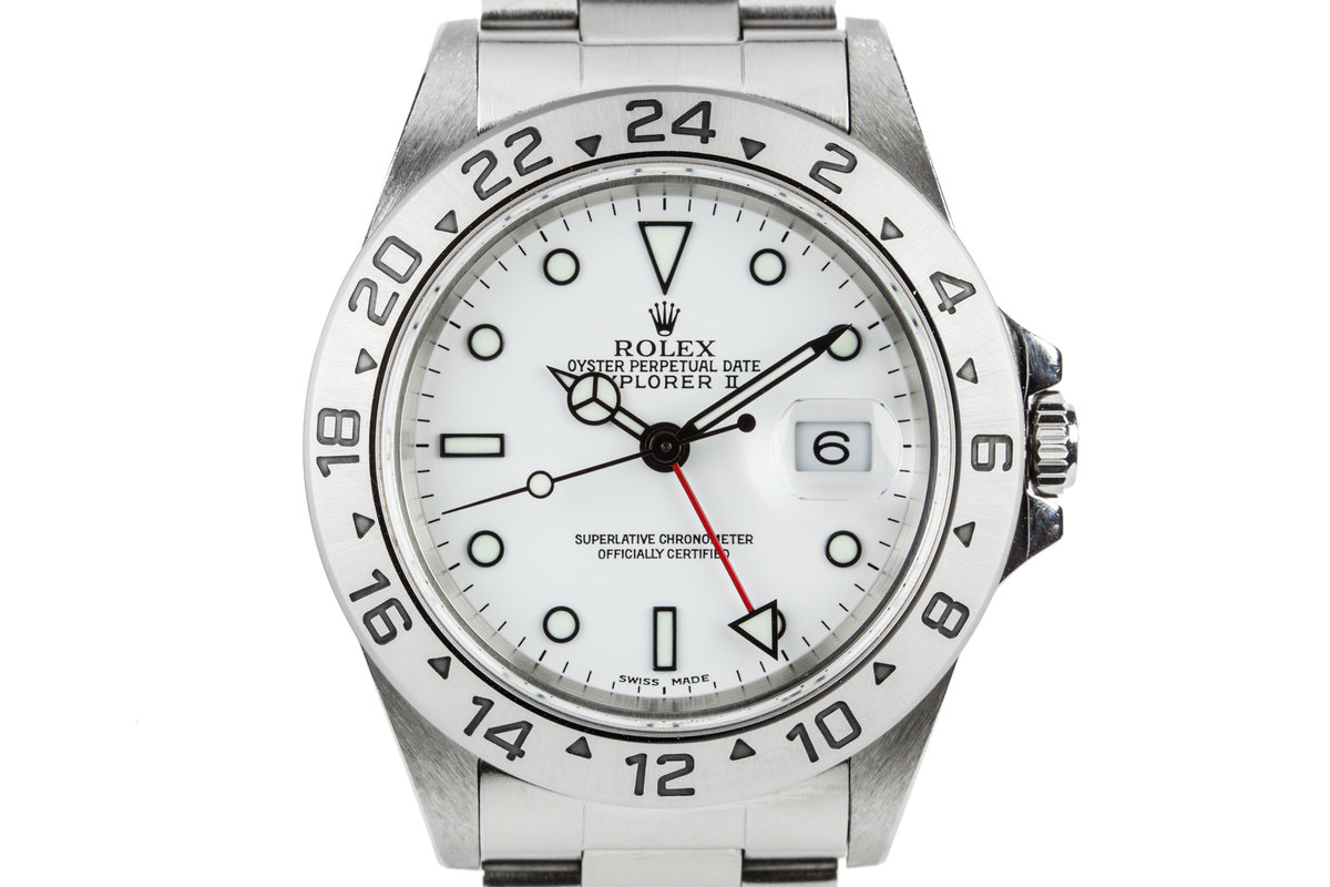 1999 Rolex Explorer II 16570 White Dial photo, #0