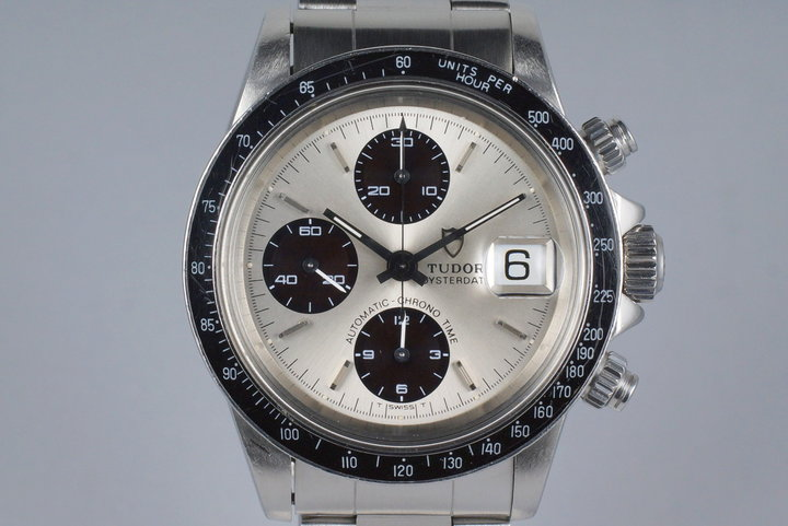 1993 Tudor Chronograph Big Block 79160 Silver Dial with Box photo
