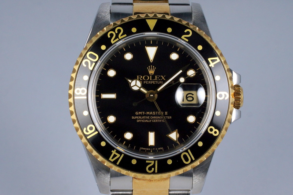 1991 Rolex Two Tone GMT II 16713 Black Dial photo, #0