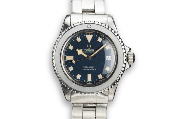 "1968 Tudor Submariner ""Snowflake"" 7021/0. Blue Dial with Ghost Bezel photo"