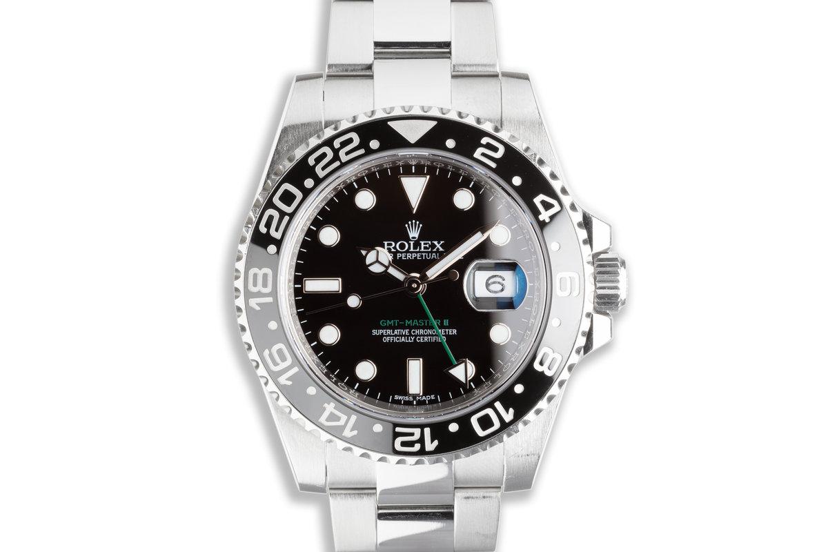 2016 Rolex GMT-Master II 116710LN Black Bezel with Box & Card photo, #0