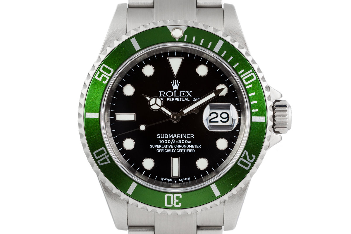 2003 Rolex Submariner 16610LV Green Bezel with Box and Papers photo, #0