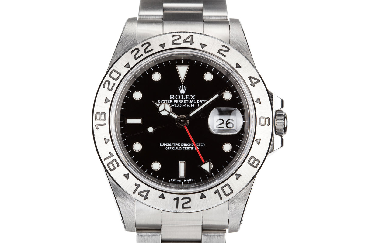 1999 Rolex Explorer II 16570 Black Dial with Box and Papers photo, #0