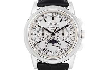 2005 Patek Philippe 5970G Perpetual Calendar 18k WG with Box and Papers photo