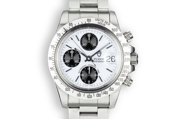 """1993 Tudor Chronograph """"Big Block"""" 79180 with Box and Papers photo"""