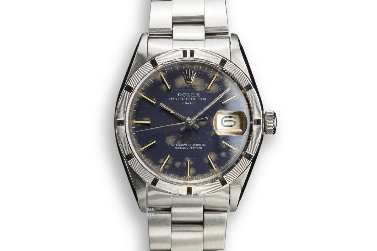1970 Rolex Date 1501 with Blue Moonlight Cloud Dial photo, #0