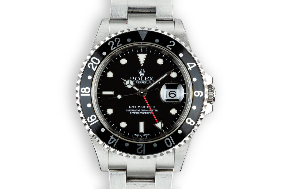 2003 Rolex GMT-Master II 16710 Black Bezel with Box and Papers photo, #0