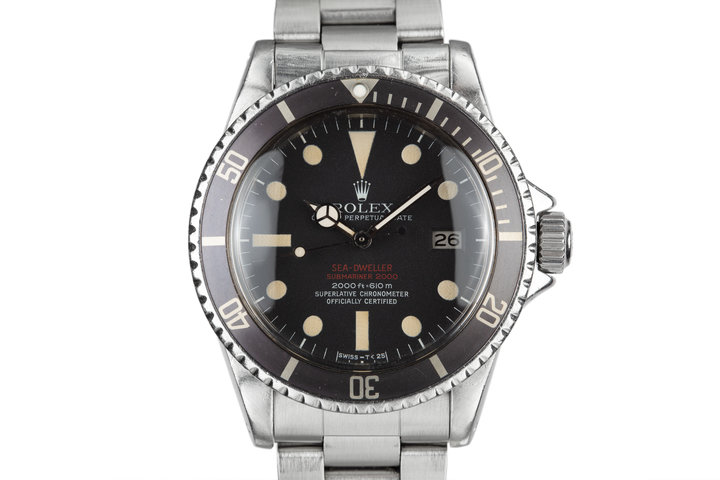 1972 Rolex Double Red Sea-Dweller 1665 MK III Dial photo