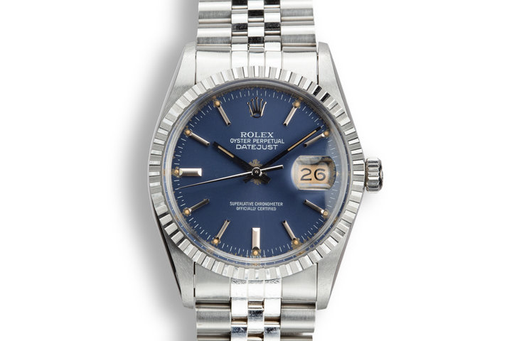 1984 Rolex DateJust 16030 Blue Dial with Box and Papers photo