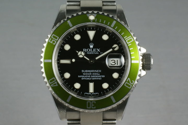 Rolex Green Submariner 16610 LV with Box and Papers photo