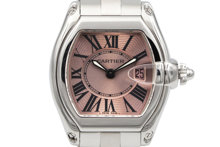 Cartier Ladies Quartz Roadster 2675 Pink Roman Dial photo