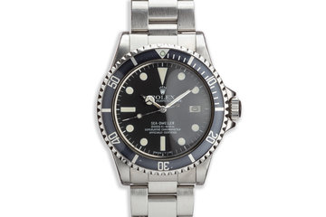 1978 Rolex Sea-Dweller 1665 MK I Dial photo