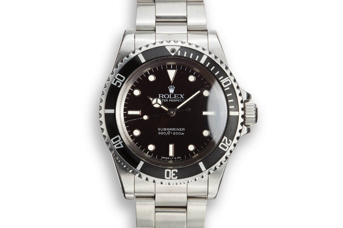 "1984 Rolex Submariner 5513 with Glossy ""Spider"" Dial with Service Papers photo, #0"